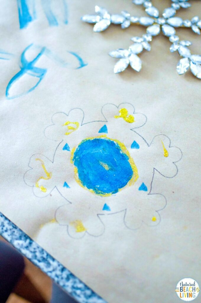 This Snowflake Art for Preschool really gets the creativity going! If you're looking for winter activities for Kids, Snowflake Art is Perfect! As snowflakes are all original, this Snowflake Process Art for Preschoolers is the same way. Now is the perfect time for Snow Day Activities and to enjoy Snowflake Activities for Preschool and Kindergarten.