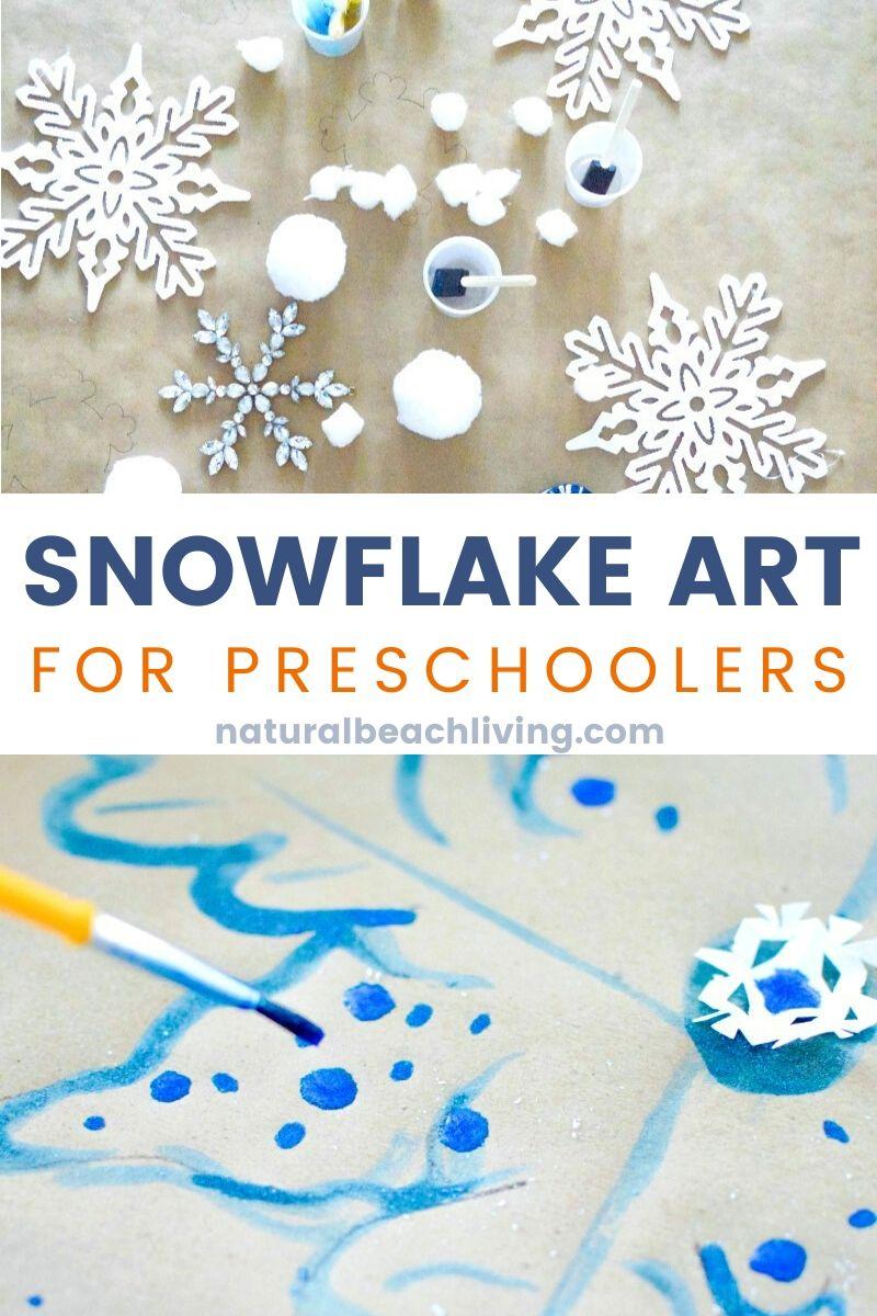Snowflake Art for Preschool and Kindergarten