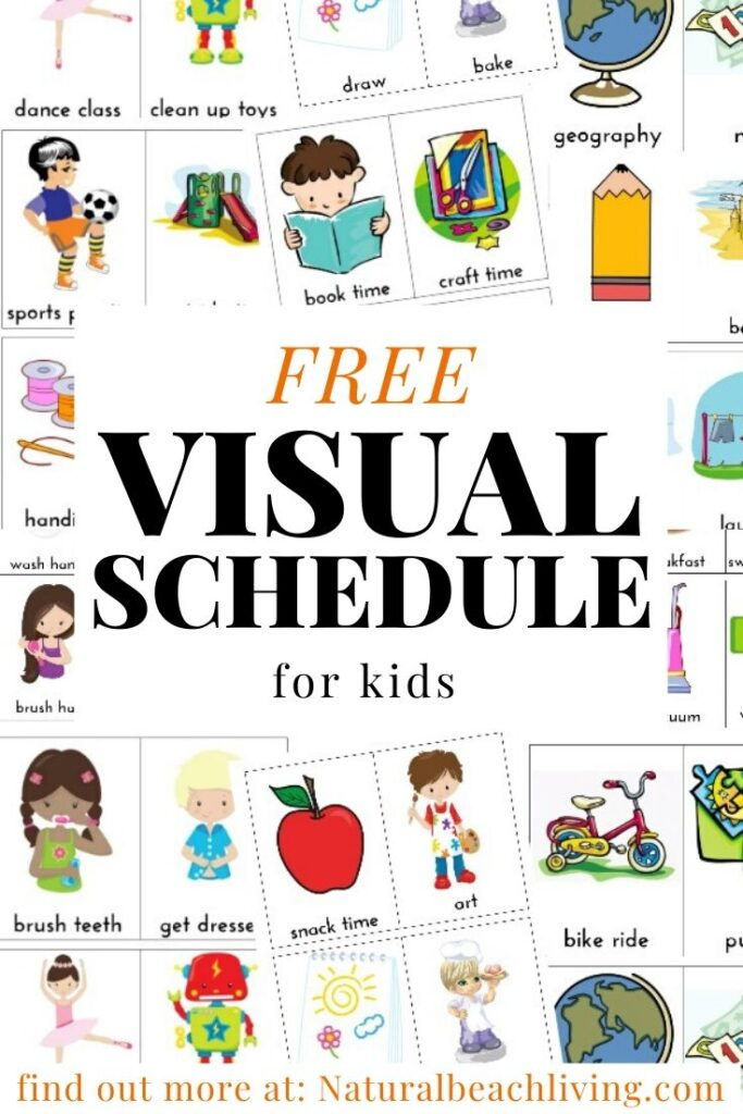Daily Visual Schedule for keeping kids on task, This is an Amazing Free Visual Schedule and Kids Daily Schedule that is perfect for Autism, preschoolers, and toddlers. Picture Schedule for home & school, Visual Schedule Autism Printables and Daily Schedule for Kids