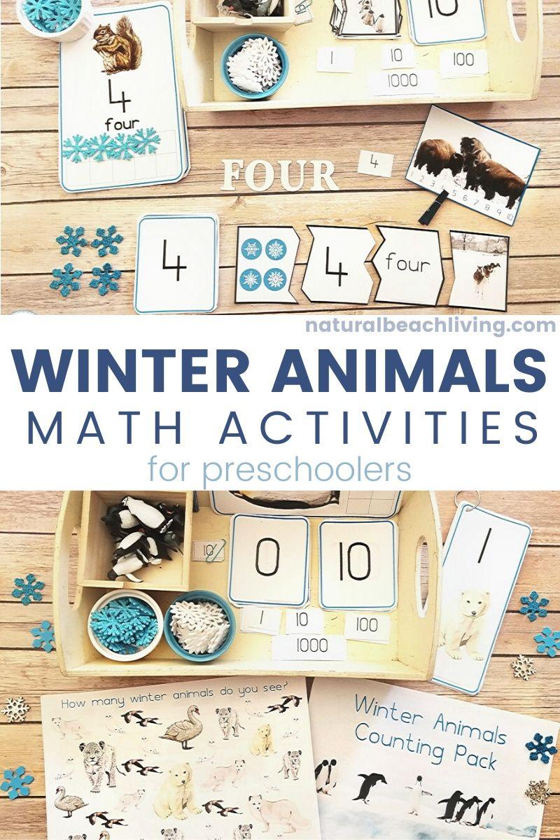 Winter Animals Montessori Math Activities