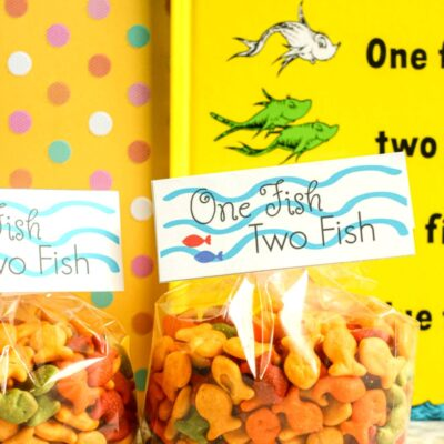 Dr Seuss One Fish Two Fish Goodie Bag Tags