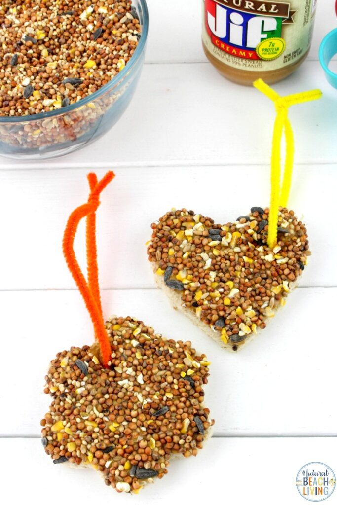 These peanut butter bird treats are so much fun to make. Plus, the birds love them! With just 3 simple ingredients needed, these are so easy to make! The best thing about these bird seed ornaments is it's kid-friendly.