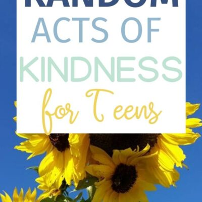 Random Acts of Kindness Ideas for High School Students