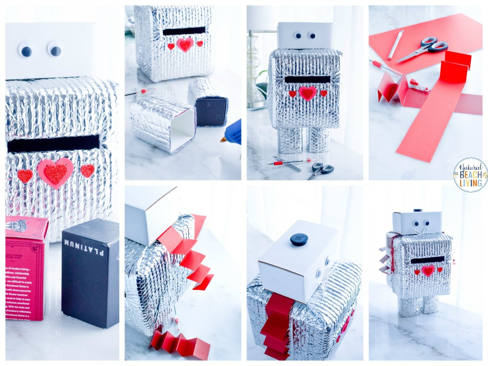 This Robot Valentine Box is so much fun! A super cute Valentine's Day Card Box that you can easily make with recycled materials? Your kids will love this DIY Robot Valentine Box, Gather up your supplies and get ready to have fun creating this DIY robot!