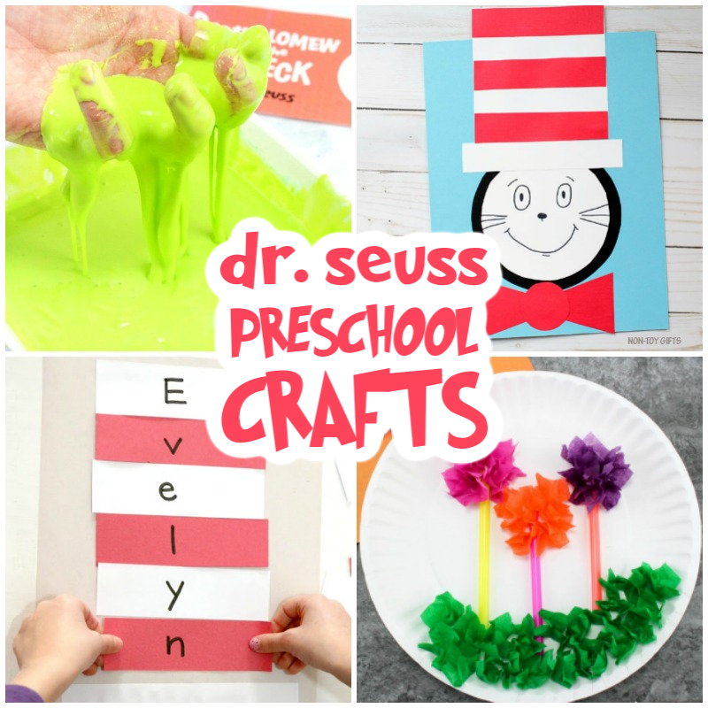 These Dr Seuss Preschool Crafts will delight your child as much as the books. Whether you are looking for Dr Seuss Craft Projects Ideas to Celebrate Dr Seuss Birthday or pick a few Dr Seuss Crafts for Preschoolers for Read Across America Day