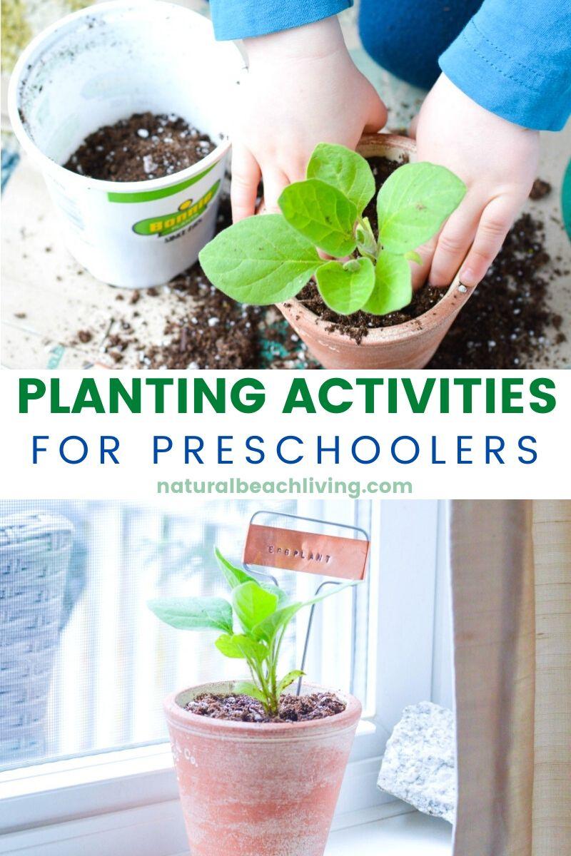 Planting Activities for Preschoolers and DIY Garden Markers