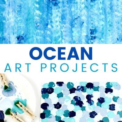 Ocean Art Preschool Activity – Easy Art Project for Kids