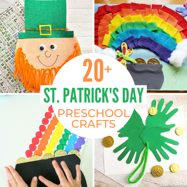 This page of St. Patrick's Day Preschool Crafts has so many fun themes like pots of gold to rainbows to leprechauns and all things green, you'll find loads of creative preschool projects here. March Preschool Crafts that are sure to delight.
