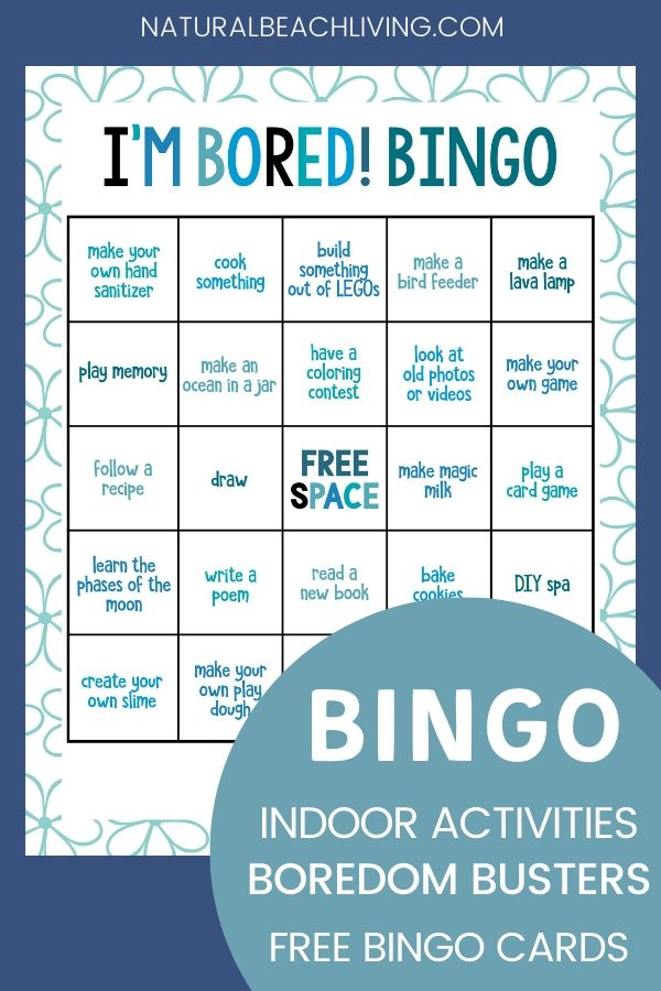 Keep fun kids activities close with this Indoor Activities Bingo Game. You can easily keep your children from any boredom with fun and educational activities. 25+ indoor activities at home, Grab the free printable here