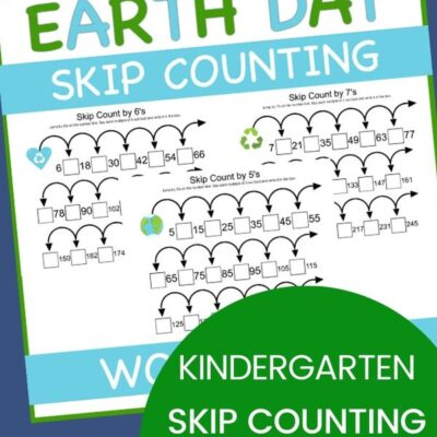 Free Earth Day Skip Counting Worksheets