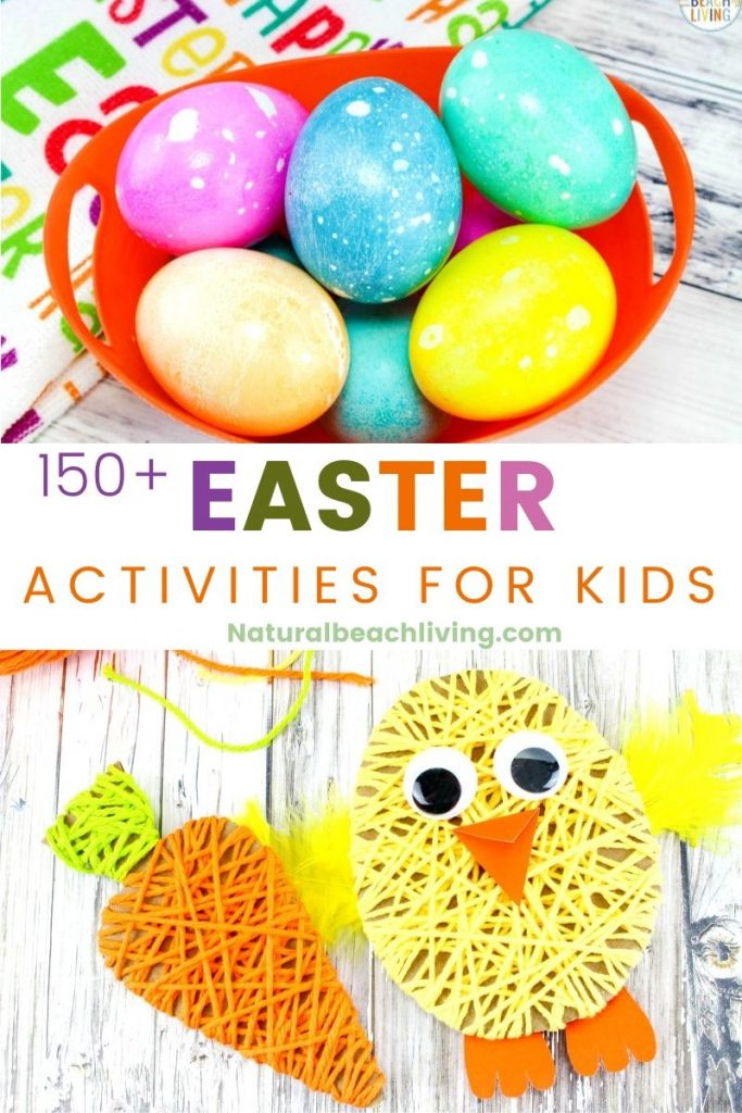 150+ Easter Ideas and Activities - You'll find Easter Crafts, Easter Activities for Kids and Easter Recipes, Plus over 100 Easter Basket Ideas, including 100 Non Candy Easter Basket Ideas, Easter Slime and Easter sensory play and Preschool Easter Printables