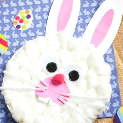 Easter Bunny Paper Plate Craft with Free Bunny Template