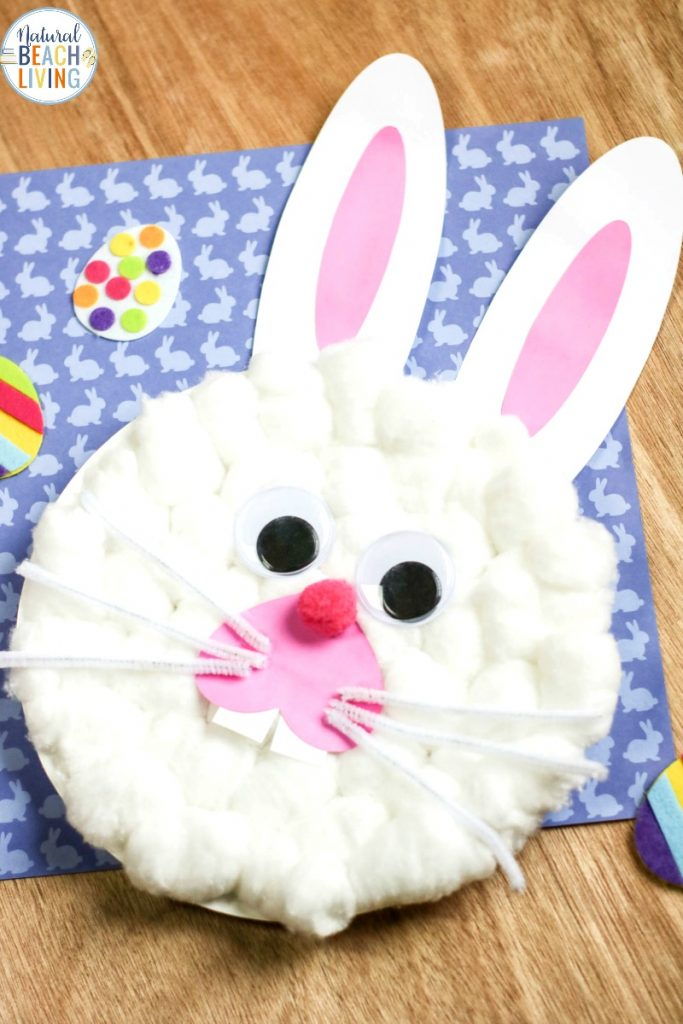 Easter Bunny Paper Plate Craft With Free Bunny Template Natural