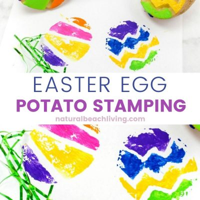 Easter Egg Potato Stamping Ideas for Preschoolers