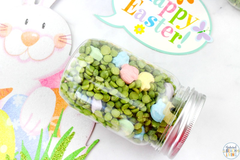 These Easter I Spy Sensory Bottles are fun for kids to make and play with. They're the perfect addition to any Easter basket, too! Easter Seek and Find Bottles are a fun game for toddlers and preschoolers. Spring Sensory Bottles and Find it Bottles for Easter activities.