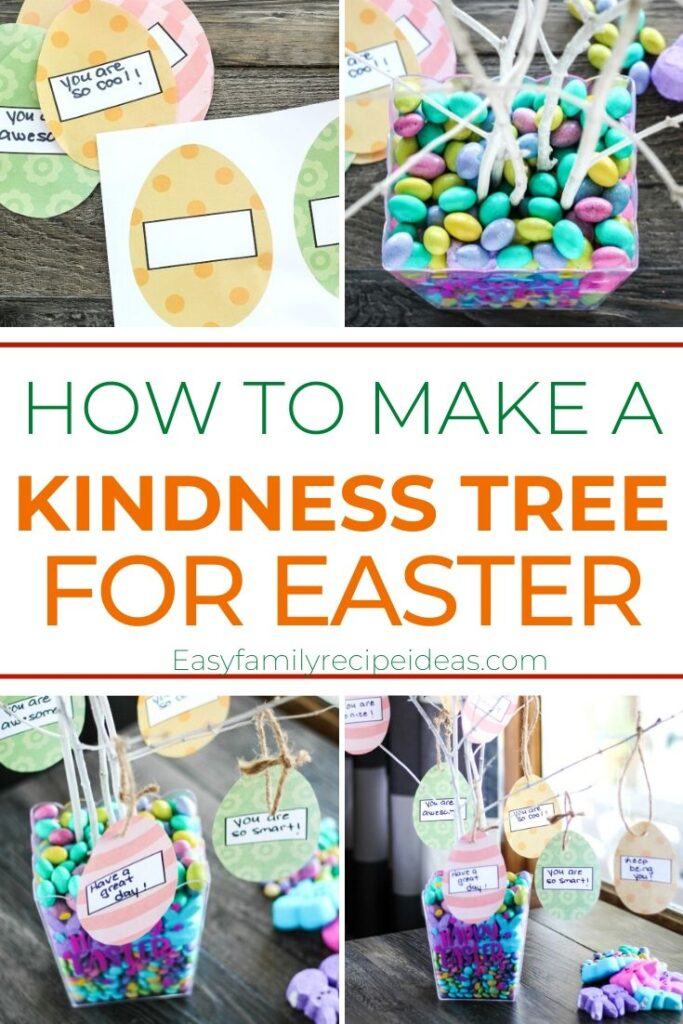 This Easter Kindness Tree is such a fun way to show your children how easy it can be to spread kindness, And this Kindness Tree is a wonderful project for families to do together. Use this free Easter Egg Template for Ways to Show Kindness. Plus it's the perfect Easter Craft