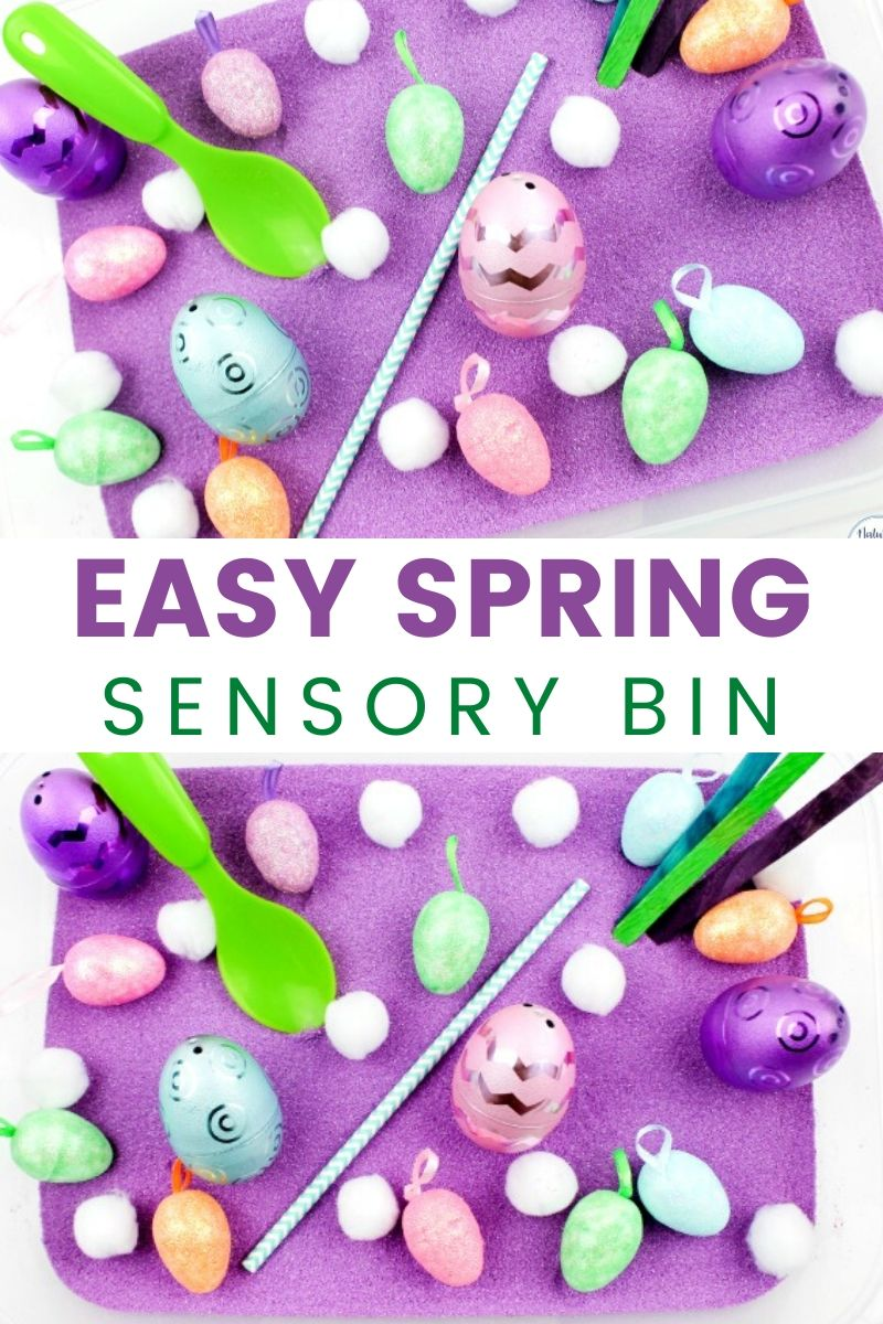 Easy Spring Sensory Bin for Toddlers and Preschoolers