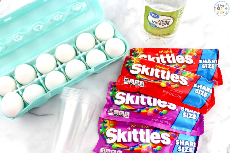 Are you ready to see How to Dye Easter Eggs with Skittles? If so, you're in the right place! This simple Easter Science Experiment will show you exactly how! Candy Science is so fun for kids of all ages. Try this Easy Egg Decorating Ideas with your kids.