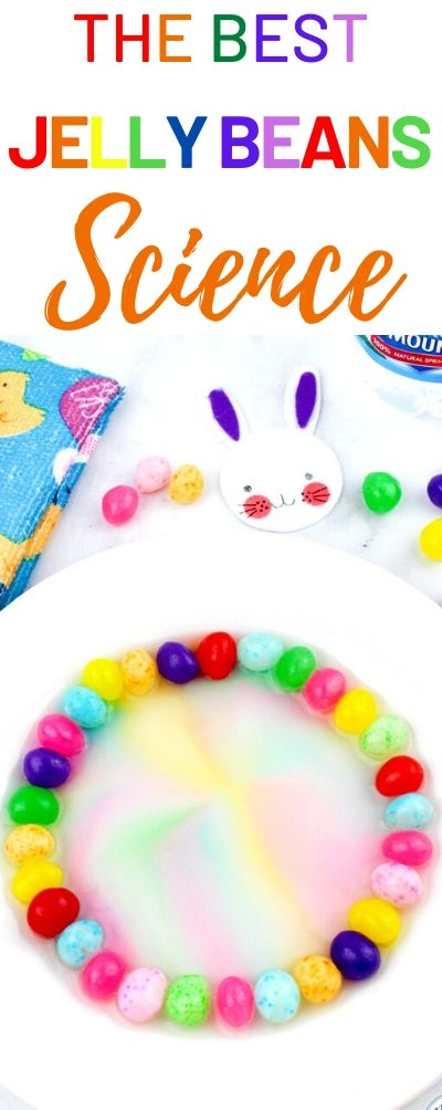 This Jelly Bean Science Experiment is so much fun. It's a great way for kids to see how colors blend and change. Whether you are looking for preschool science, STEM challenges, science projects, Jelly Bean Activities, or just some fun and learning for your kids, this candy science is a definite winner. Jelly Bean STEM Experiment