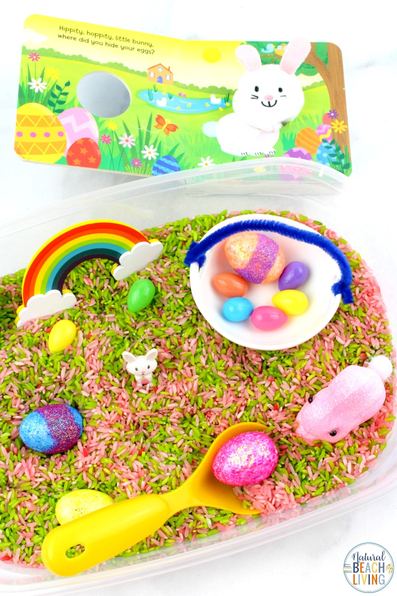 Bunny Sensory Bin for Toddlers and Preschoolers