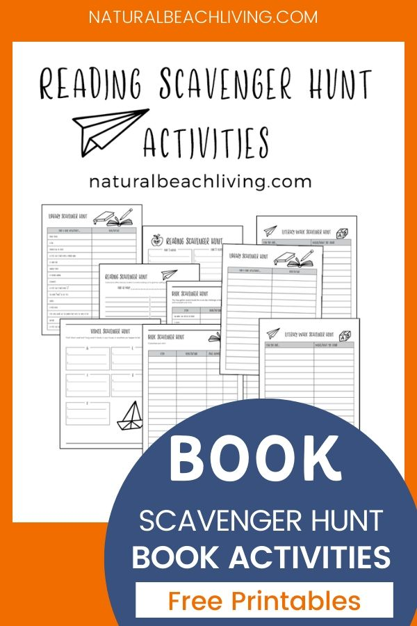 These Book Activities for Kids are a great way to read, learn and have fun. Download your free Reading activities and Reading Scavenger Hunt Printables, These Literacy Scavenger Hunts are great for all ages. Kids love book activities for kindergarten, first grade, all the way up through Middle School.