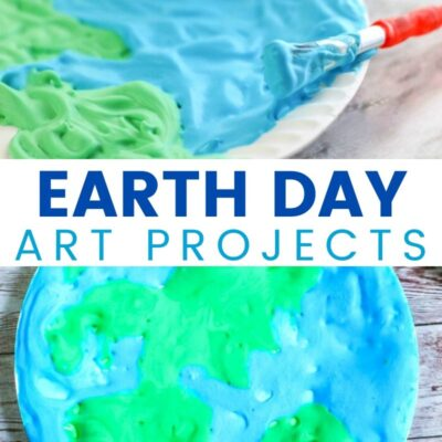 Earth Day Paper Plate Craft with Free Earth Template