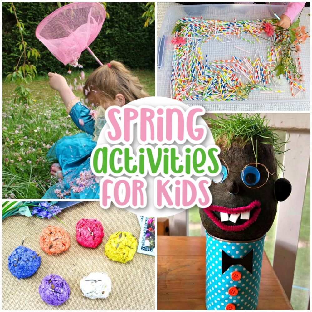 These fun spring activities for kids will get your family excited about this lovely season. You'll find many Springtime activities that can be done right in your own backyard as well as on nature walks and indoors.