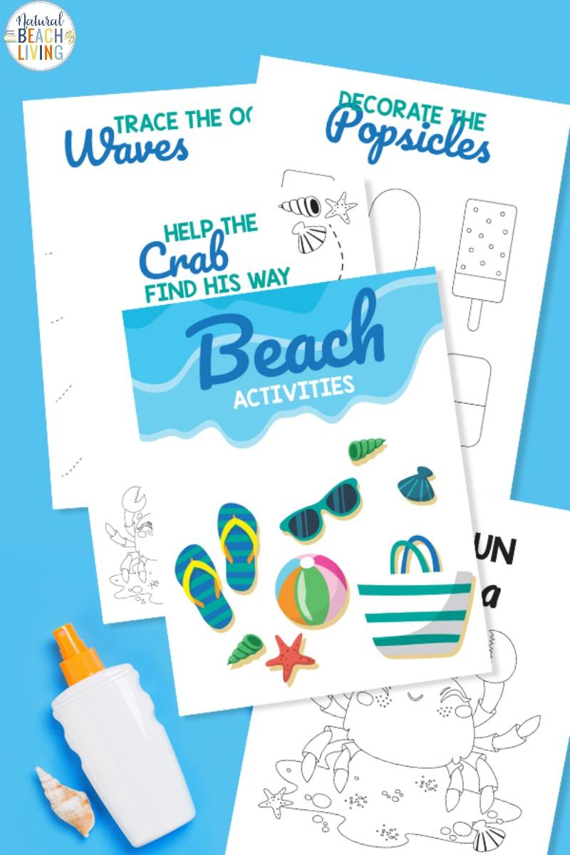 Preschool Beach Printables and Activities