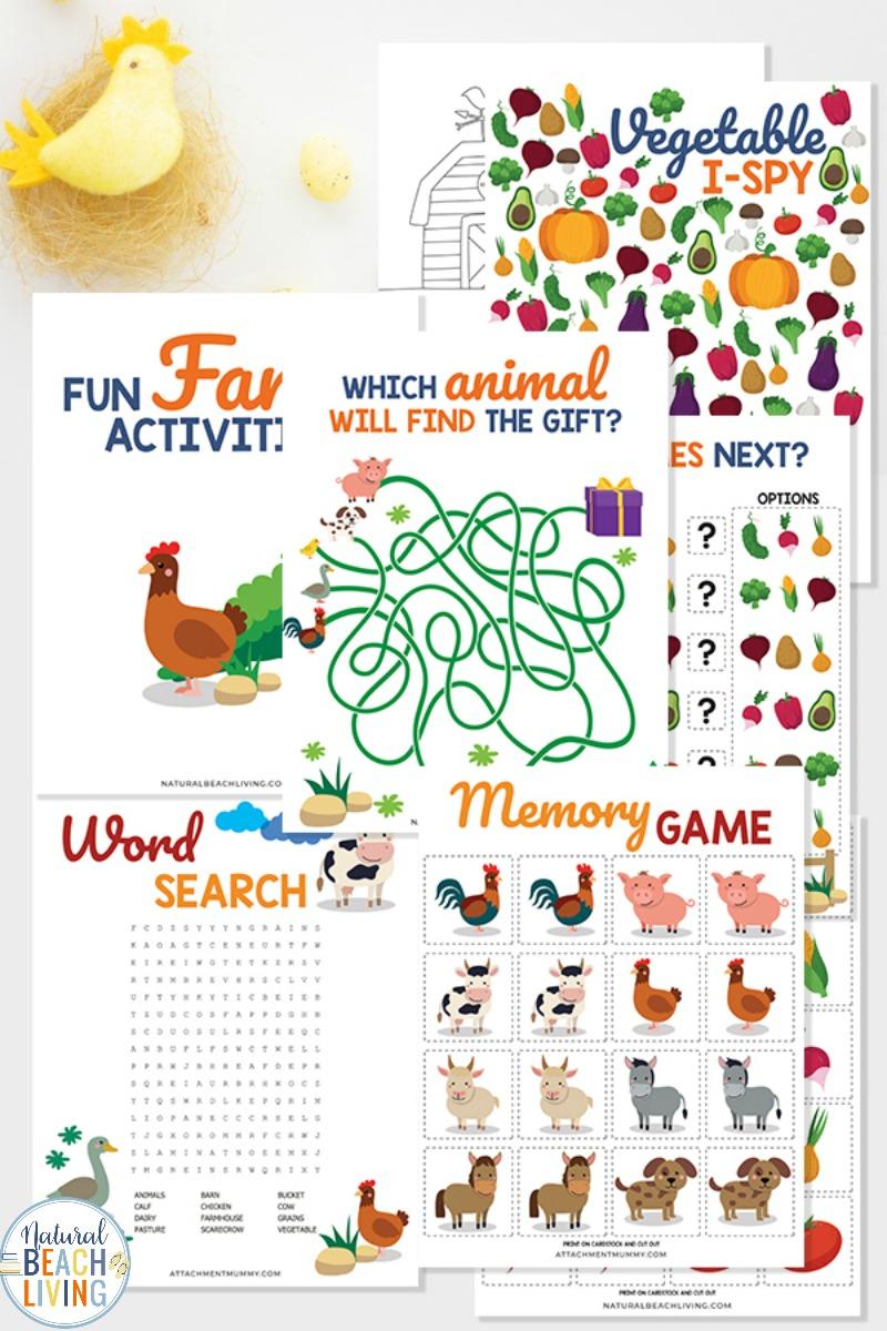 Farm Printables for Preschool and Kindergarten