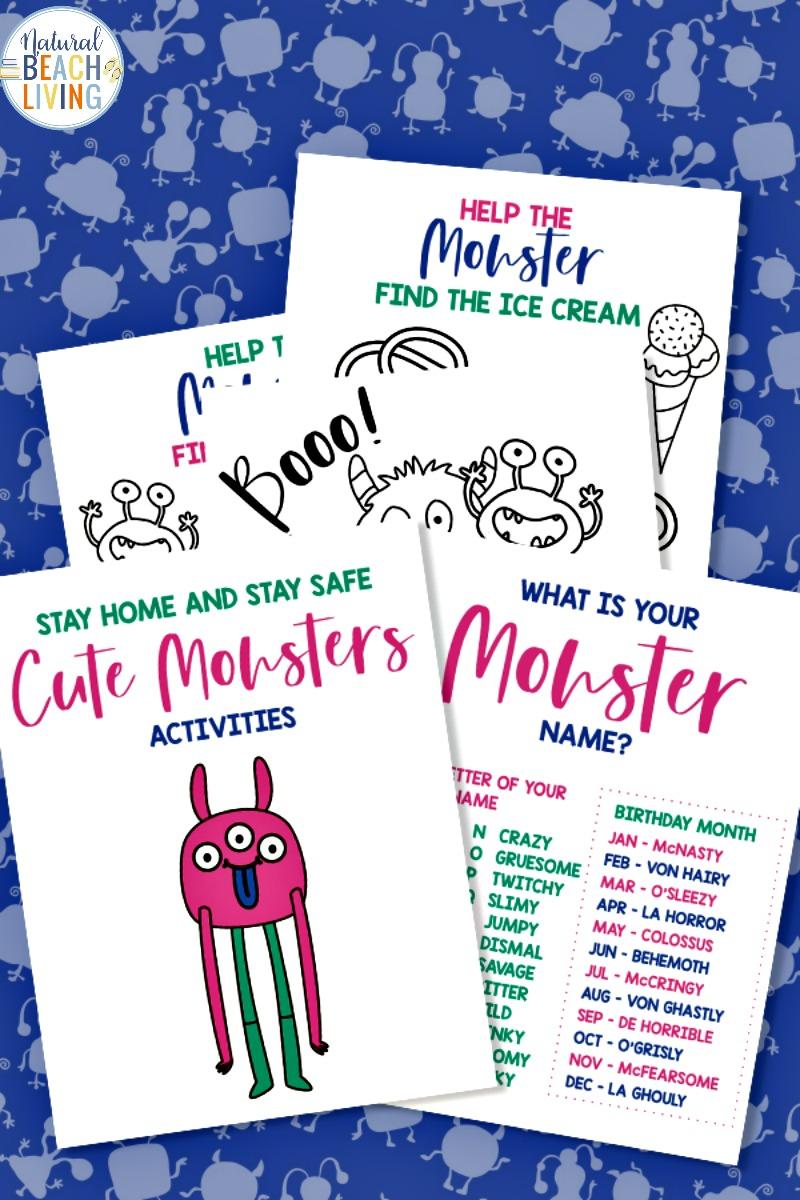 Free Monster Printables for Kids