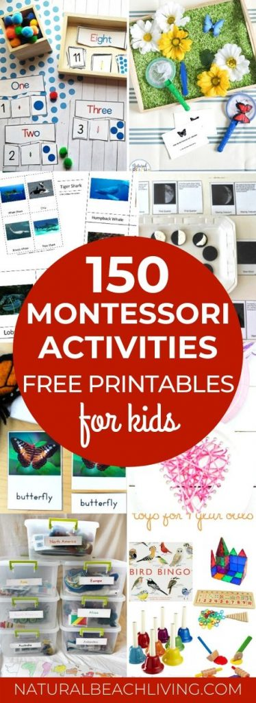 150+ The Best Montessori Activities and Hundreds of Montessori activities for Preschool and Kindergarten. You'll find Free Montessori Printables, Montessori Books, Montessori Toys, Montessori Practical Life, Montessori Math, Montessori Science and Montessori Sensory Activities. Everything for Montessori Baby through elementary age children.