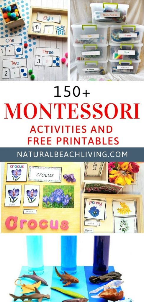 These Montessori Math Activities are great for preschoolers and kindergarten. With these Preschool Math Activities, your child will learn to count, learn word numbers, number recognition, and more. Math Activities that include the numbers 1-20, Plus, These Montessori math Printables are amazing
