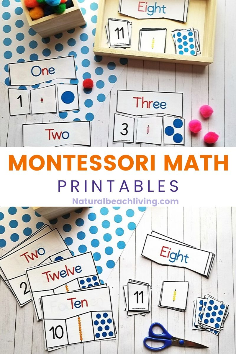 Montessori Math Activities for Preschool and Kindergarten