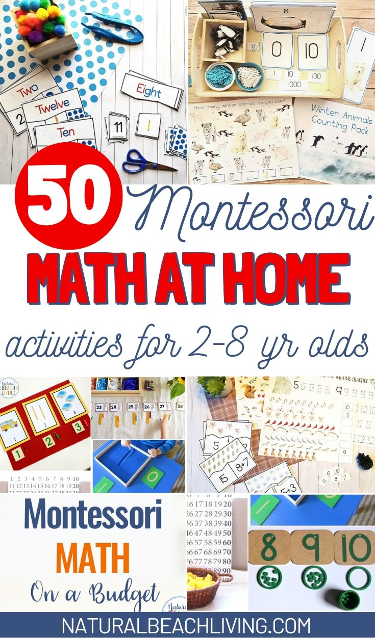 Montessori Math at Home for 2-10 Year Olds