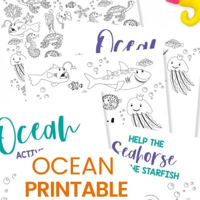 Free Printable Ocean Activity Pages for Preschoolers and Kindergarten