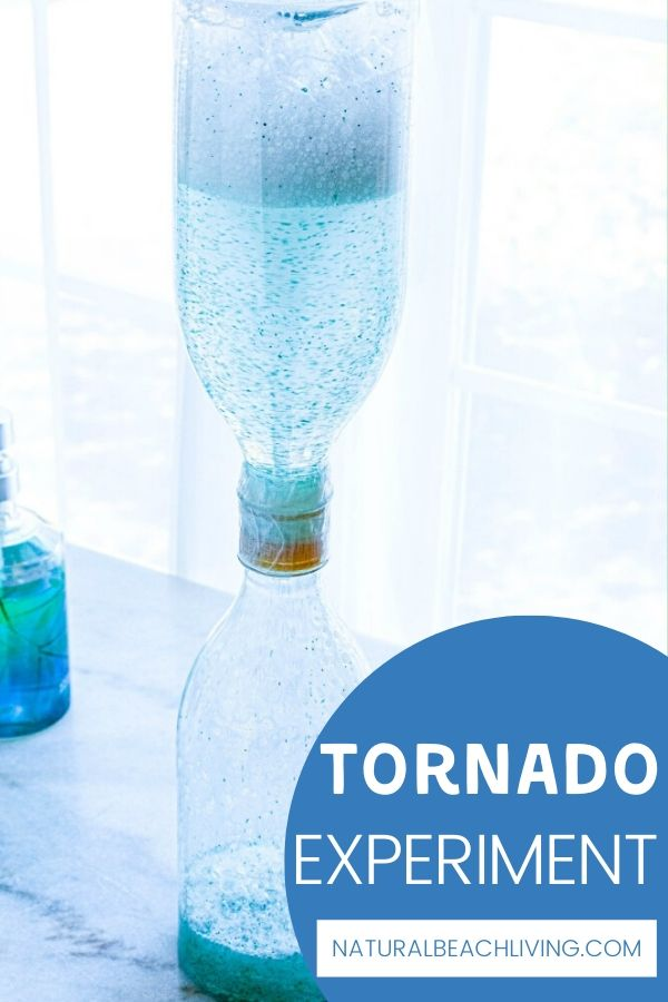 This super cool tornado in a bottle activity is so exciting for preschoolers and kindergarten. Add a Tornado Experiment to your weather preschool theme or weather science unit study for fun and educational hands on learning.