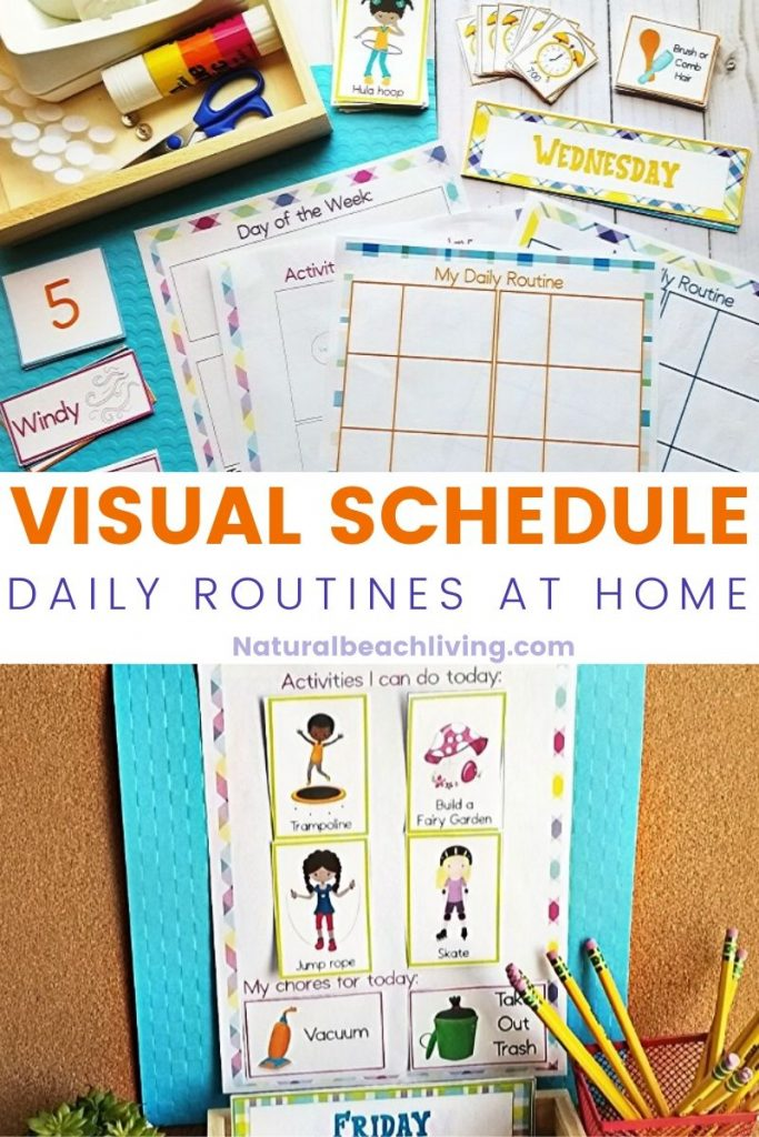 This Homeschool Schedule Printable is a great visual tool to help the entire family stay on track. Having a Daily Schedule for Kids works great. Plus, this Free Homeschool Schedule Template comes with a few options to use what's best for your family. Free Printable Schedule for the win!