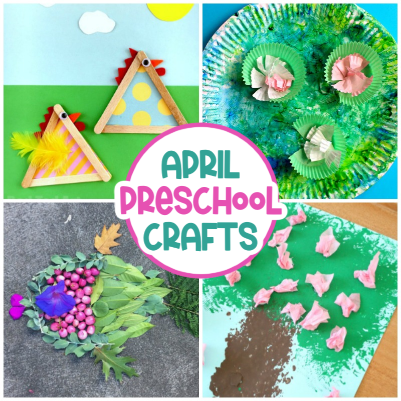 These April Preschool Crafts are the perfect spring activity for a rainy day or as a fun school activity. 35+ Fantastic ideas, from educational crafts like a butterfly life cycle and parts of a flower craft to fun crafts like weather crafts and insect crafts.
