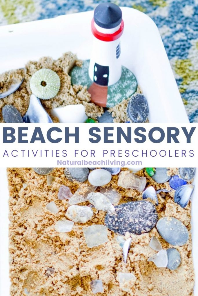 This Beach Sensory Bin is so much fun! The kids will love the fact they can have a little bit of messy play and creativity, too! Add Ocean Sensory Activities for Toddlers and Preschoolers to your themed learning or summer activities.