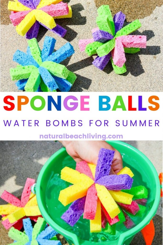 How to Make Super Soaker Sponge Balls Kids Will Love, These DIY Sponge Balls and Sponge Water Bombs are the Perfect Summer activities, Water Activities for Kids that are cheap and easy, Summer Activities for Kids with DIY SPLASH Balls are a Perfect Summer Party Idea too