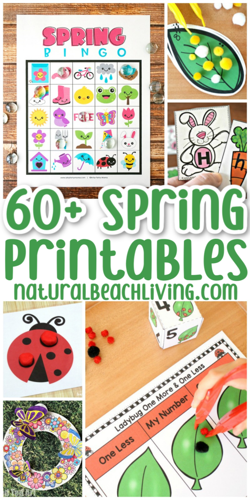 Here you will find over 70 Spring Printable Activities for Kids, These are Fun Printable Activities like scavenger hunts, flower themes, life cycles, spring printable games, literacy skills, math activities and so much more. Printable Activities for Toddlers and Preschoolers, and Free Printable Worksheets for Kindergarten.
