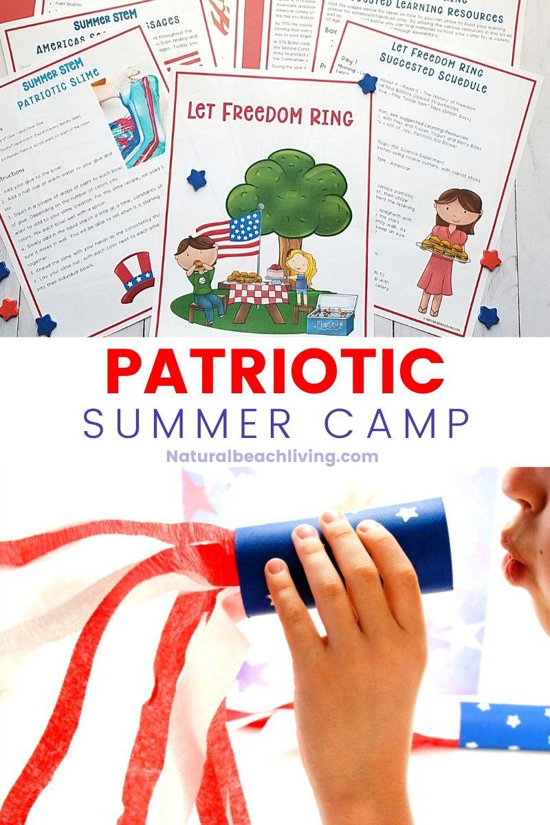 Patriotic Summer Camp at Home