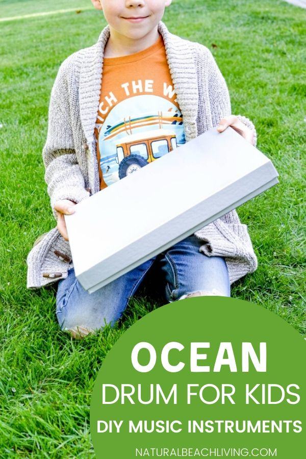 Make your own DIY ocean drum craft. Ocean drums are a fun homemade musical instrument for kids of all ages. This is a perfect ocean activity or a fun idea for a beach theme too. Learn the Benefits of Playing Instruments and see other Music activities for preschoolers