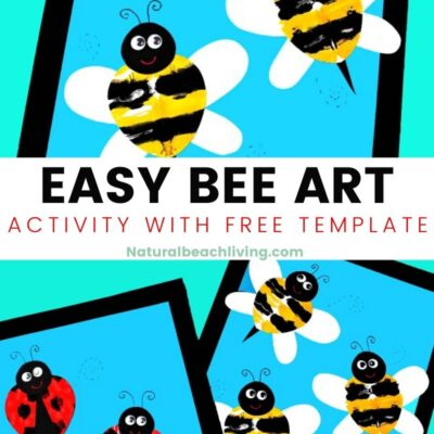 Preschool Bee Art Activity with Bee Template