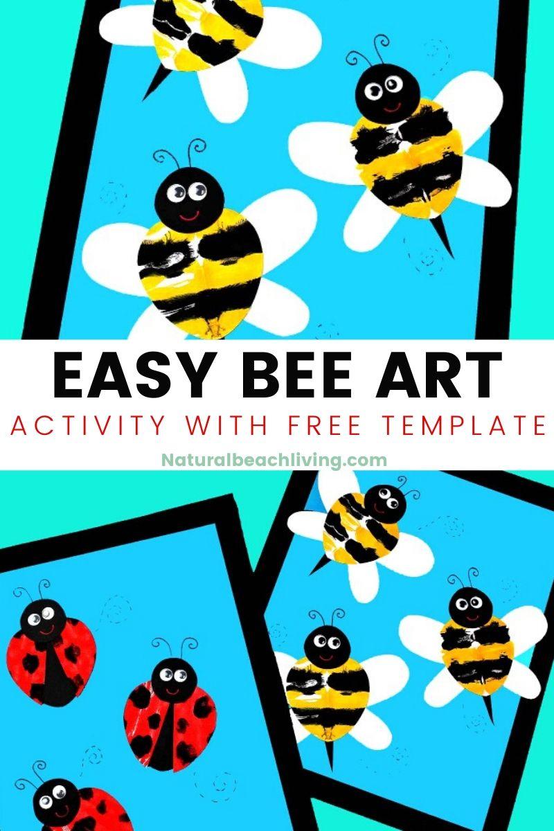 Preschool Bee Art Activity with Bee Template