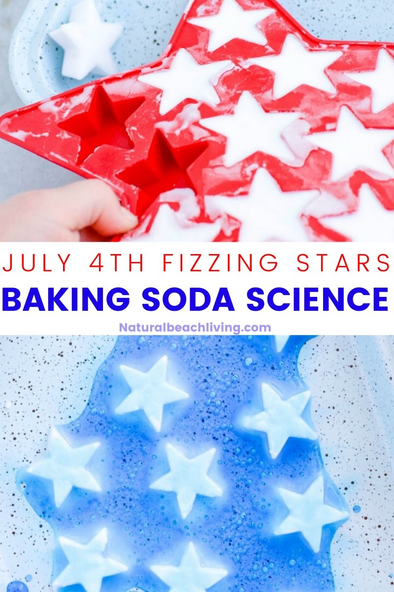 4th of July Fizzy Stars Baking Soda Science Experiment