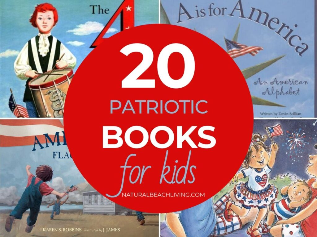 These Patriotic 4th of July Books for Kids are a perfect way to introduce your children to the 4th of July holiday. Independence Day makes a great preschool theme or just enjoy reading Fourth of July Books for Preschoolers for valuable information and enjoyment.