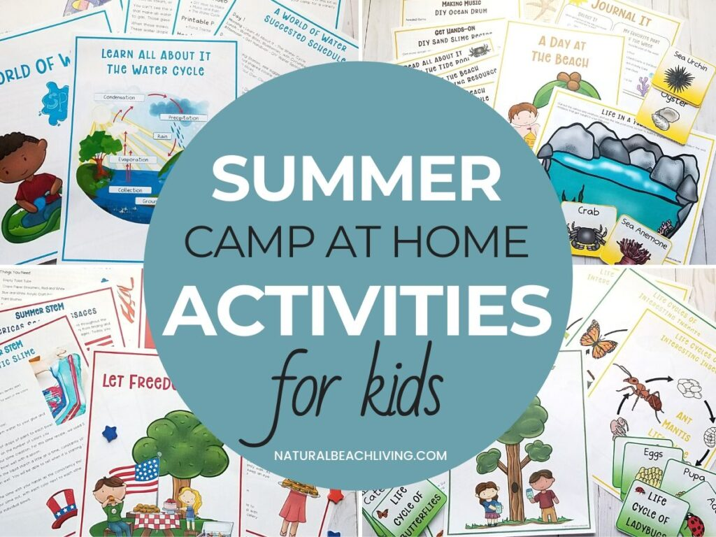 Summer Camp at Home, The Best Guide or Summer Camp Themes with activities and ideas for the whole summer.