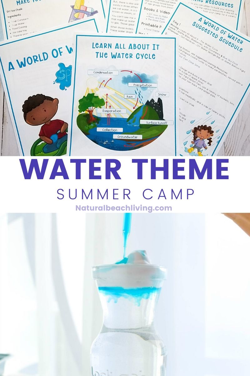 Water Theme Activities for Summer Camp at Home