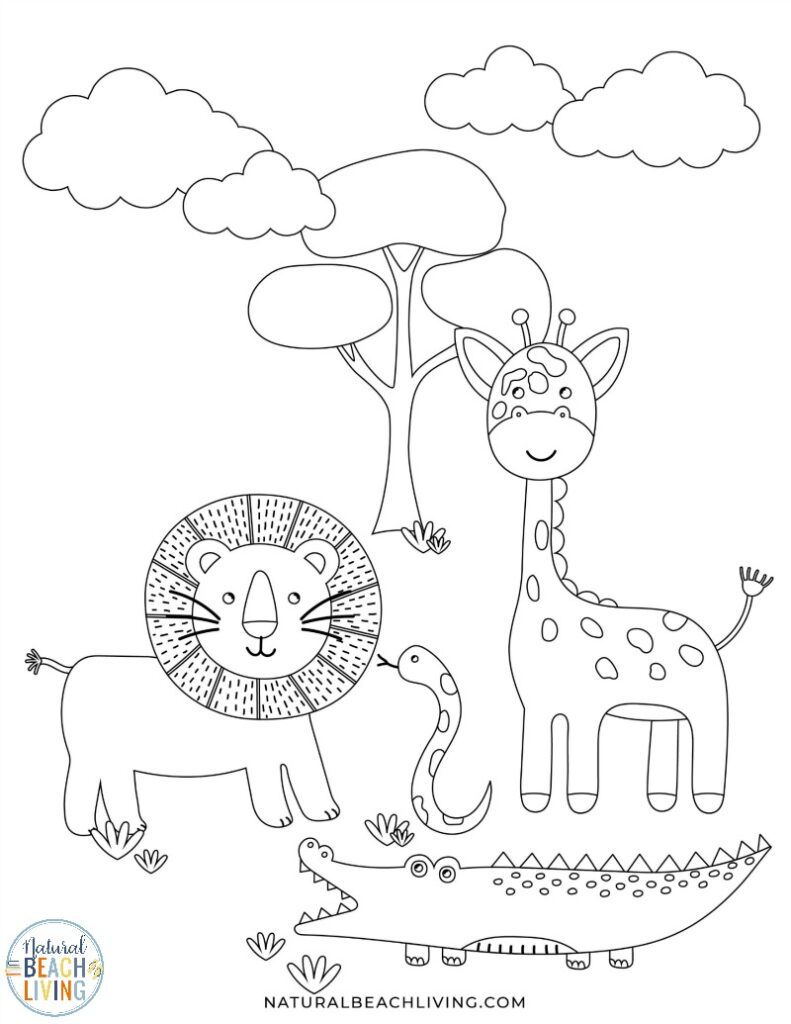 These Wild Animals Printables are so much fun for preschool and kindergarten children. These Zoo themed activities and games are perfect for a preschool zoo theme or add these Wild Animal Coloring Pages to your activities. Animal printables are a fun and educational way to help teach your child about wildlife!